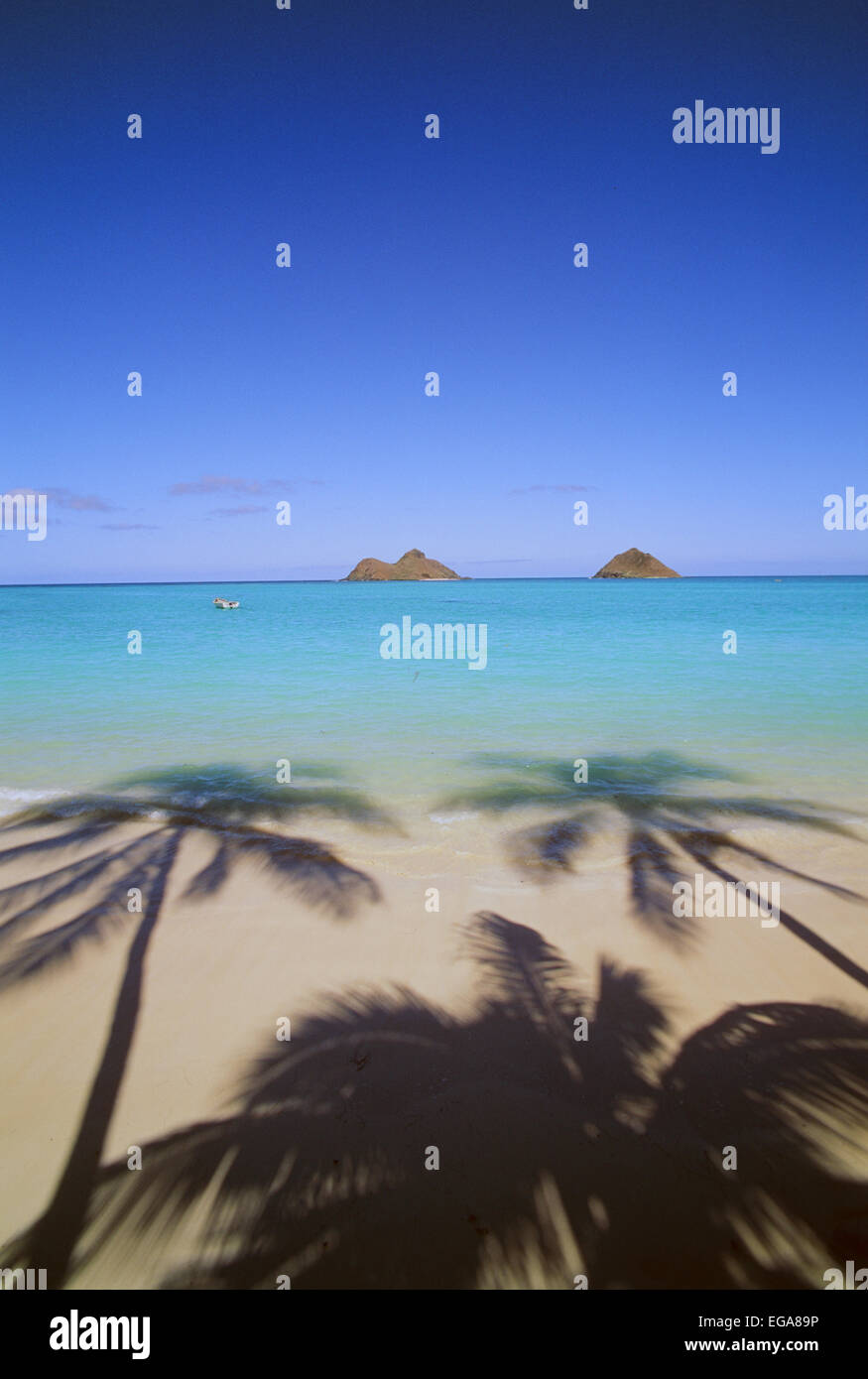 Lanikai Beach, Kailua, Hawaii, Oahu Banque D'Images