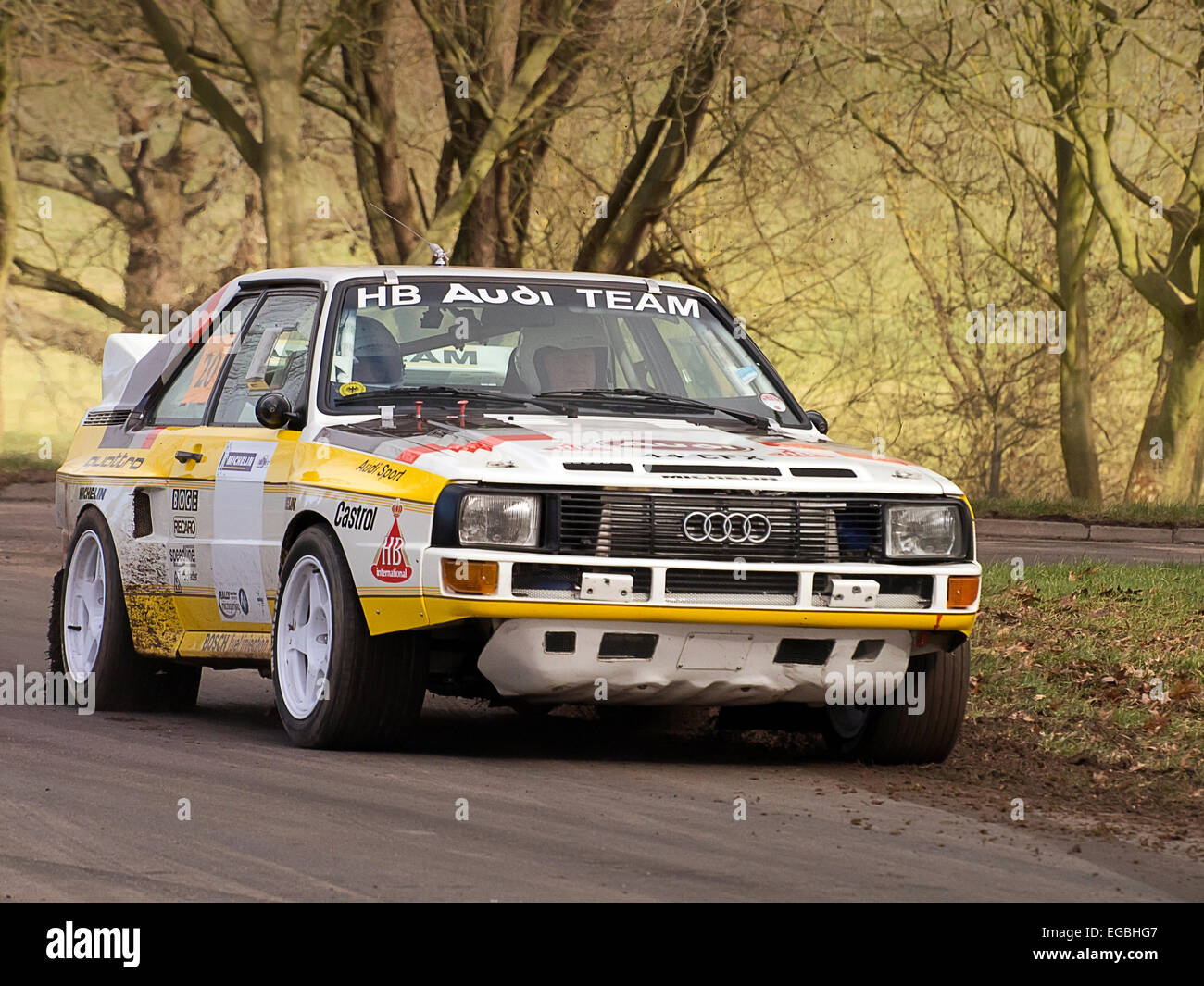 audi quattro rally photos audi quattro rally images alamy. Black Bedroom Furniture Sets. Home Design Ideas