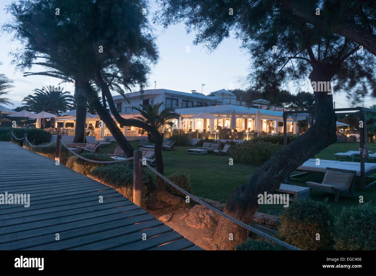 Gecko Hotel Beach Club, Playa Migjom, Ca Mari, Formentera, Islas Baleares, Espagne, Europe, Photo Stock