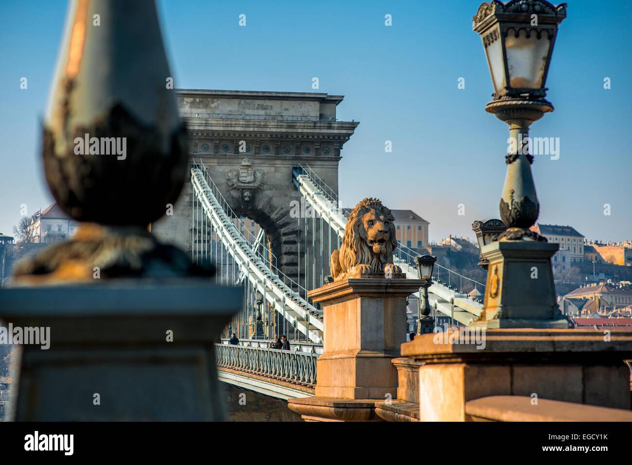 Pont à chaînes Széchenyi Photo Stock