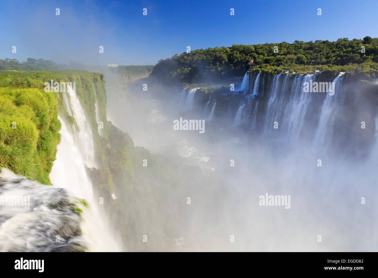 L'Argentine, Iguazu Falls National Park, (UNESCO Site), de la Gorge du Diable Banque D'Images
