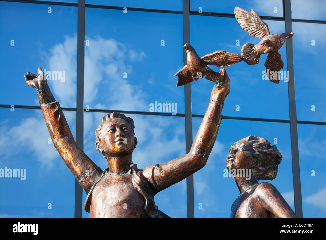 La paix et l'Amitié Paix Statue Avenue; Ulaanbaatar, Mongolie Photo Stock