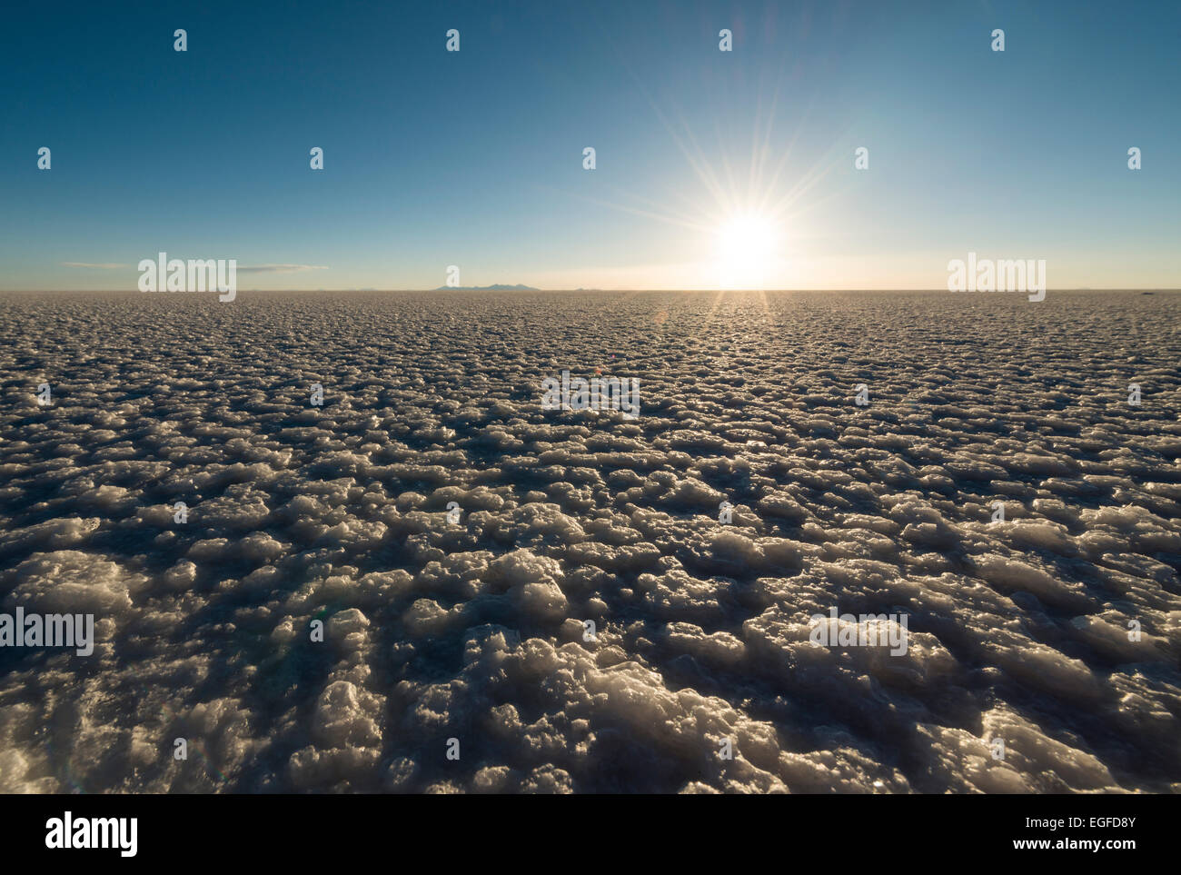 Salar de Uyuni, le sud de l'Altiplano, Bolivie Photo Stock