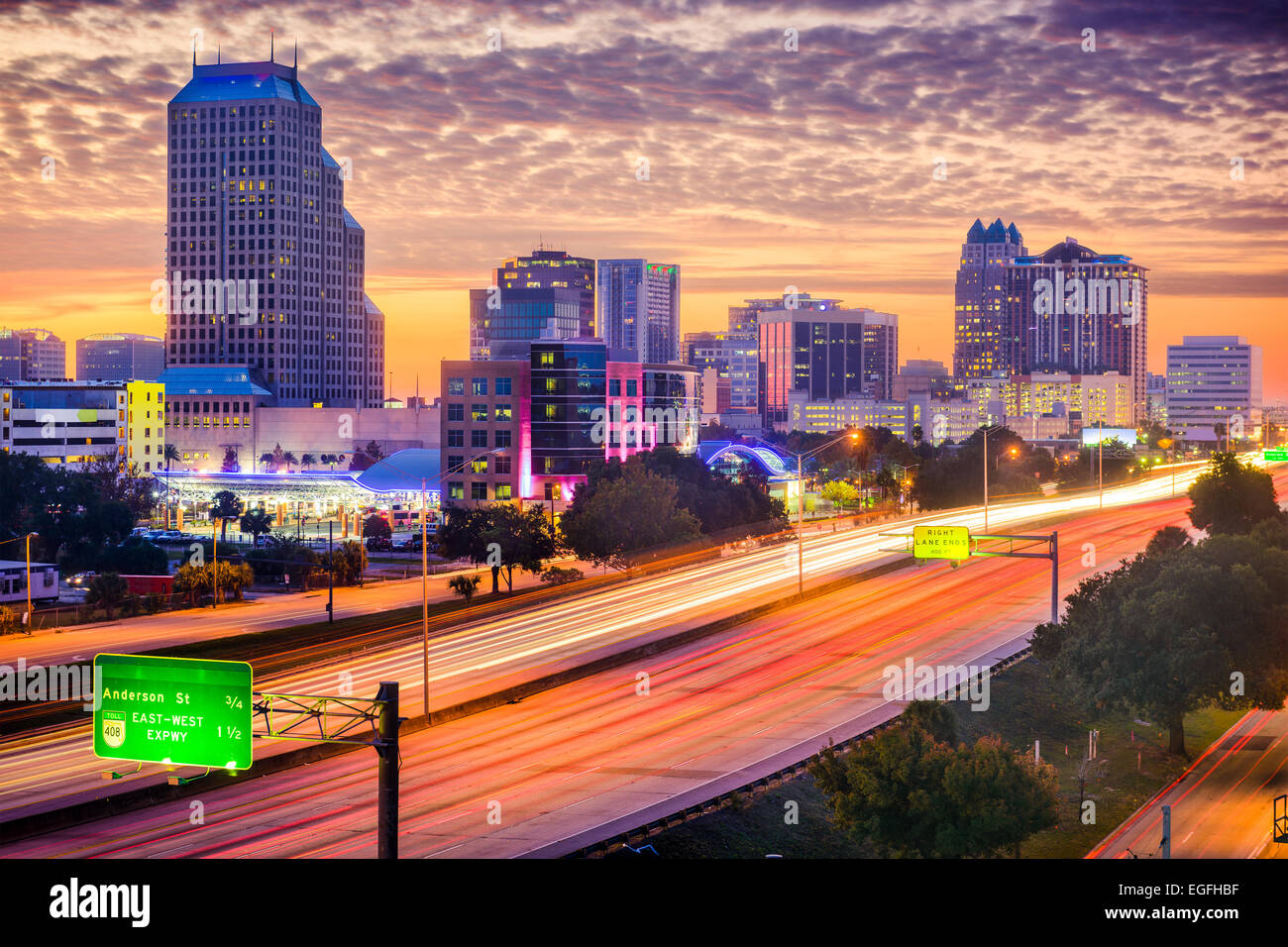 Orlando, Floride, USA paysage urbain. Photo Stock