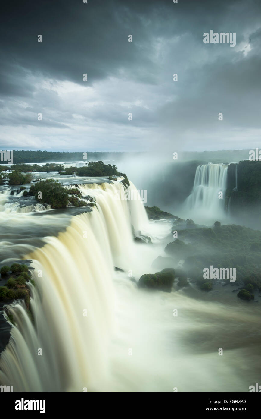 Garganta do Diablo, Foz do Iguaçu, Parque Nacional do Iguaçu, Brésil Photo Stock