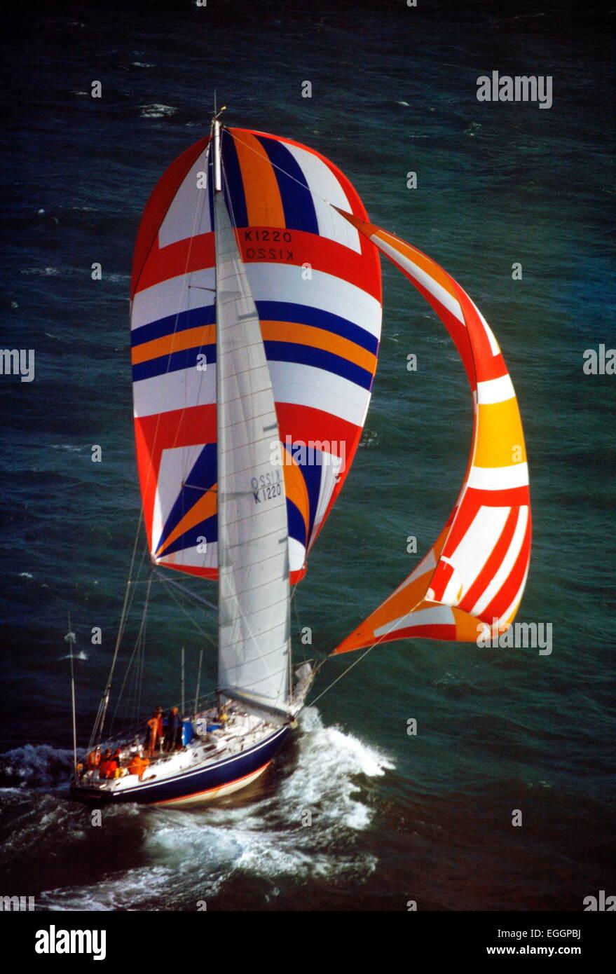 AJAX NOUVELLES PHOTOS - 24ème mars, 1978 - LE YACHT RACE WHITBREAD -KING'S LEGEND. La production d'un Photo Stock