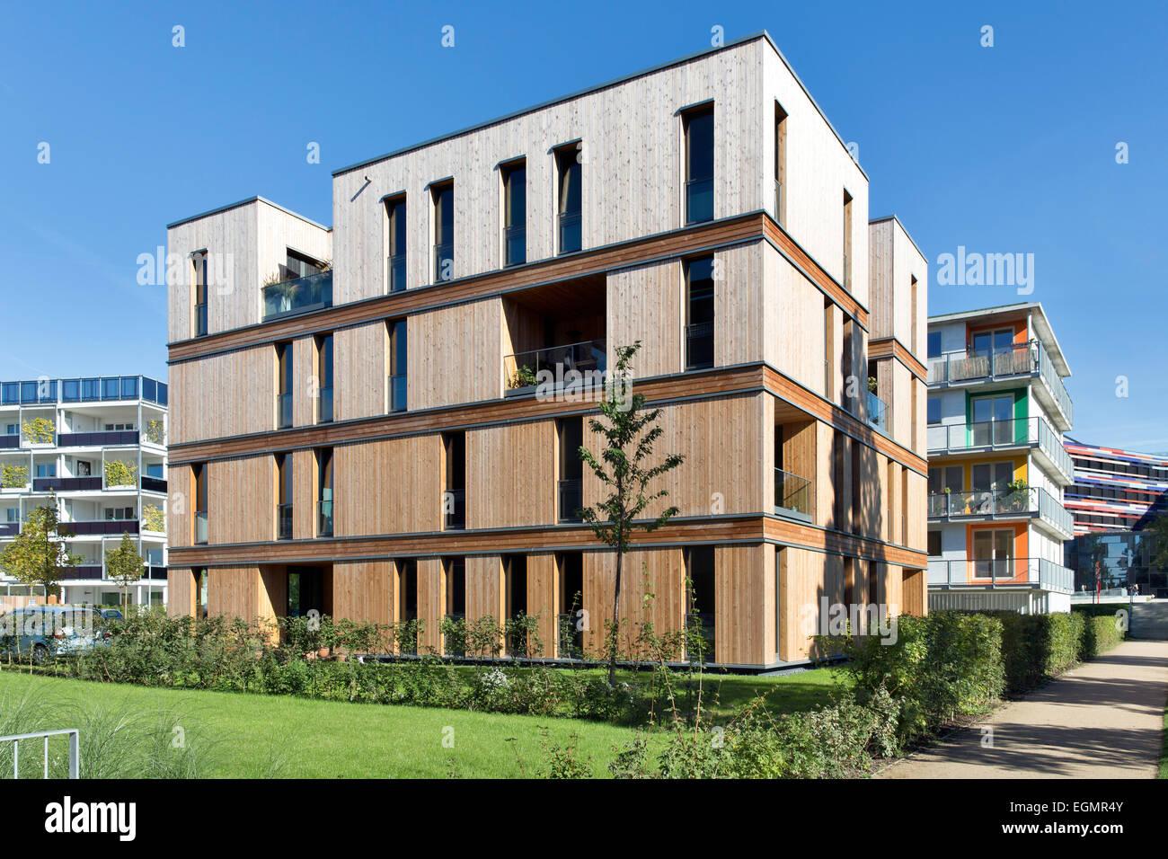 Étude de cas une maison d'habitation à Hambourg, CSH, le Salon International de la construction, Hambourg, Photo Stock