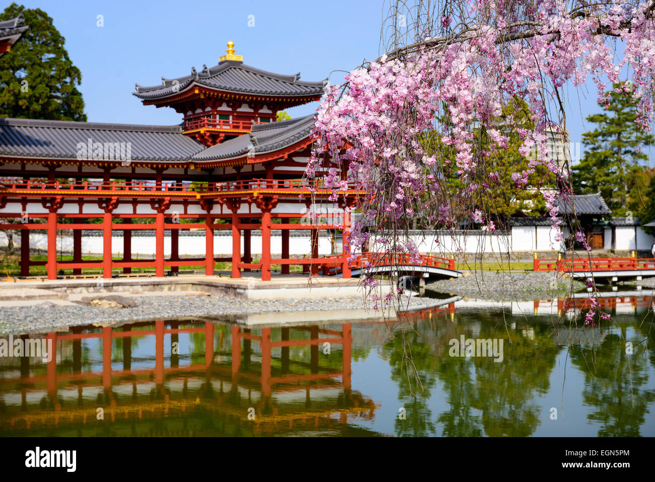 Kyoto, Japon à Temple Byodo-in. Photo Stock