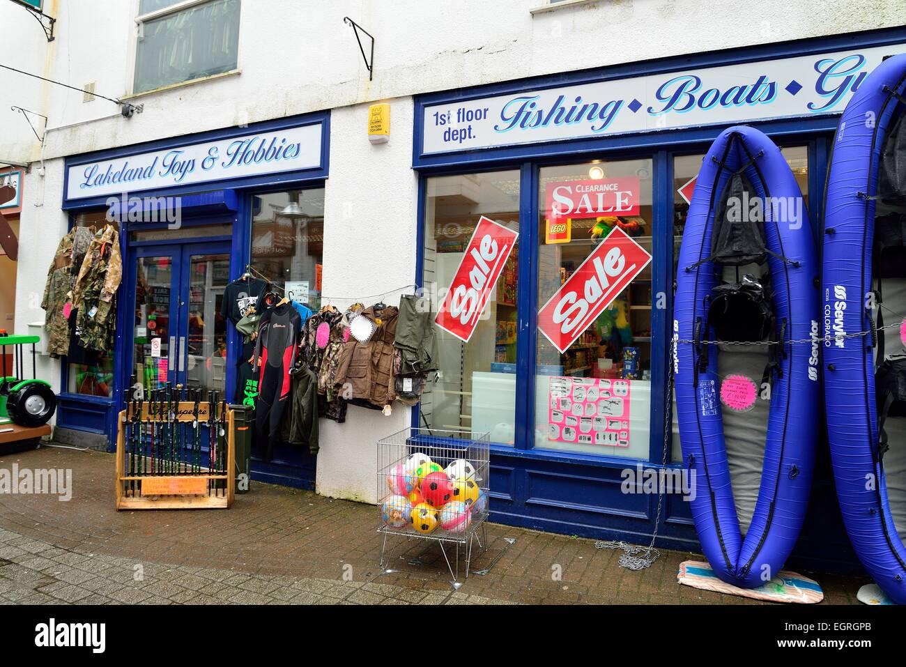 Lakeland jouets et passe-temps shop à Keswick Cumbria Photo Stock
