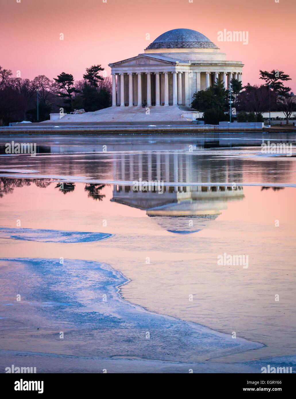 Le Thomas Jefferson Memorial à Washington, D.C. est dédié à Thomas Jefferson, le troisième président des États-Unis. Banque D'Images