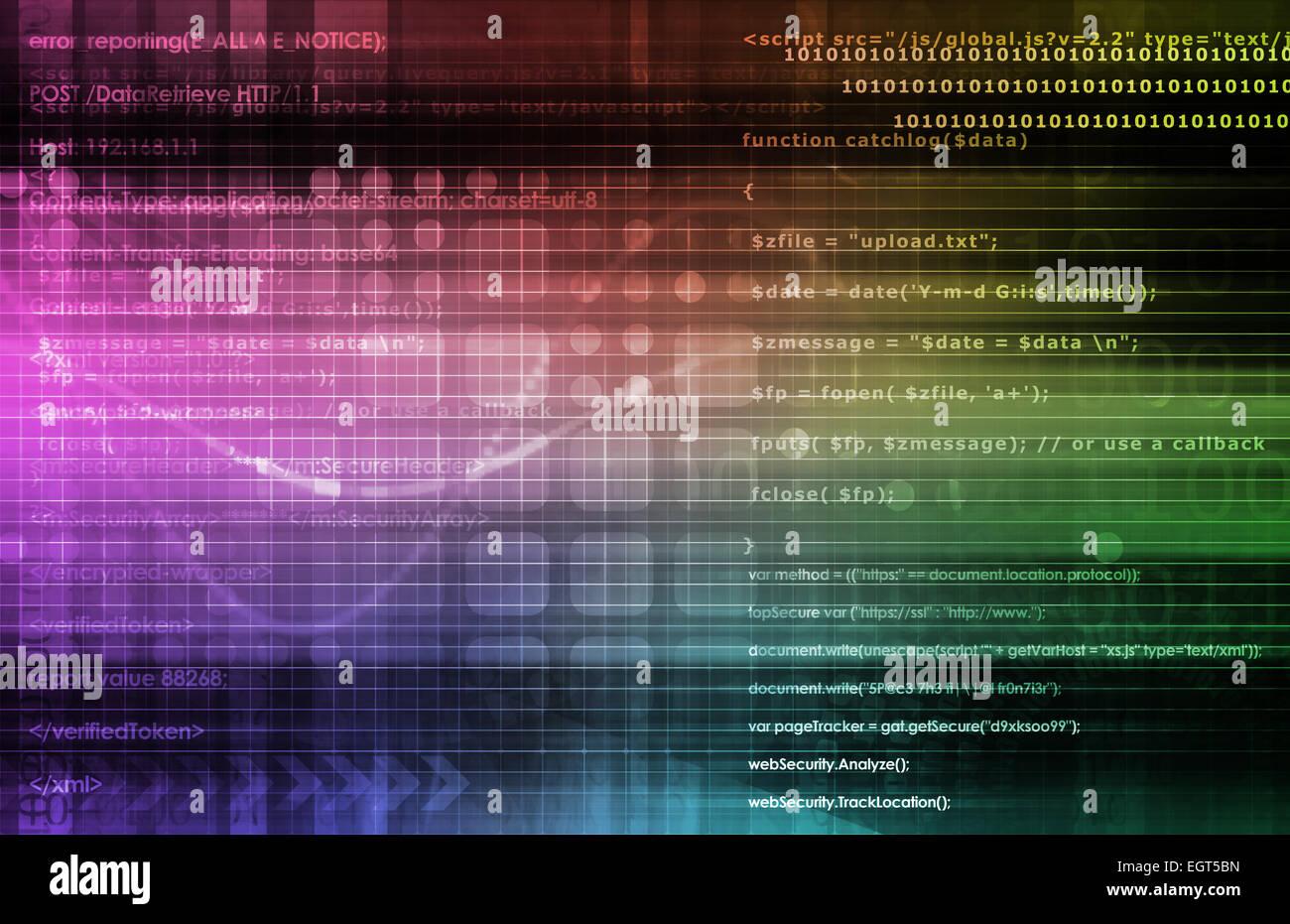 Le processus d'analyse de données comme un Concept Art Photo Stock