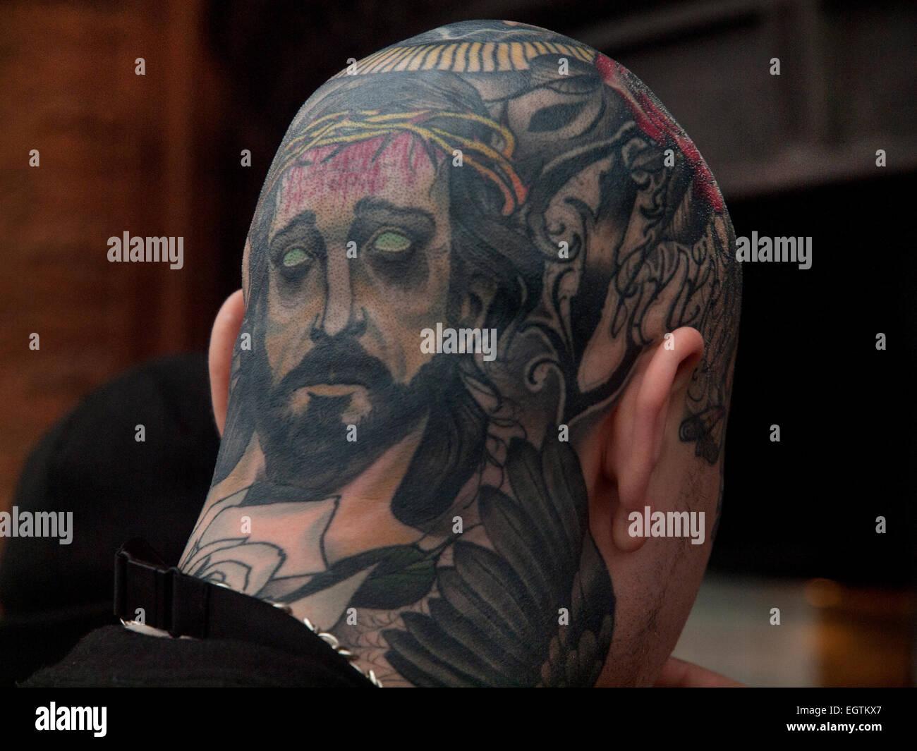 Jesus Tattoo Banque D Image Et Photos Alamy