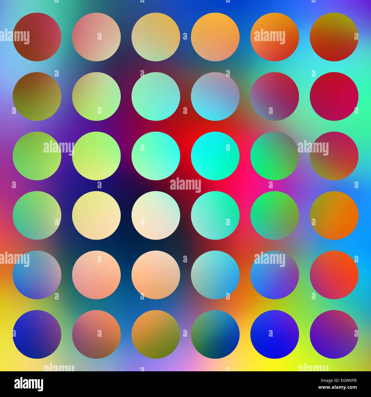 Les cercles lumineux couleur graduée résumé. Photo Stock