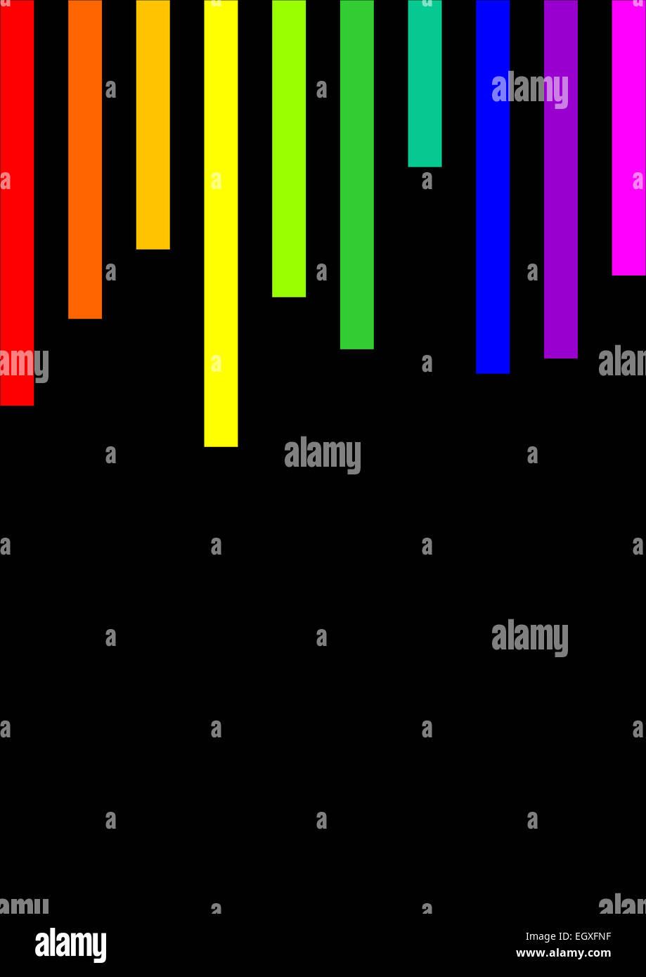 Les lignes de couleur parallèles verticaux texture pattern background Banque D'Images