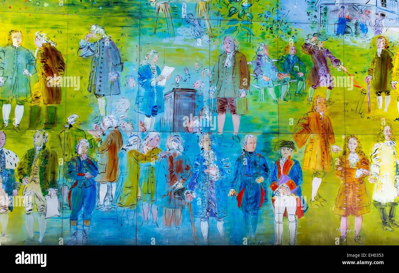 ActiveMuseum_0003197.jpg / la fée électricité - huile sur polywood (250 panneaux) Jean-Charles de Photo Stock
