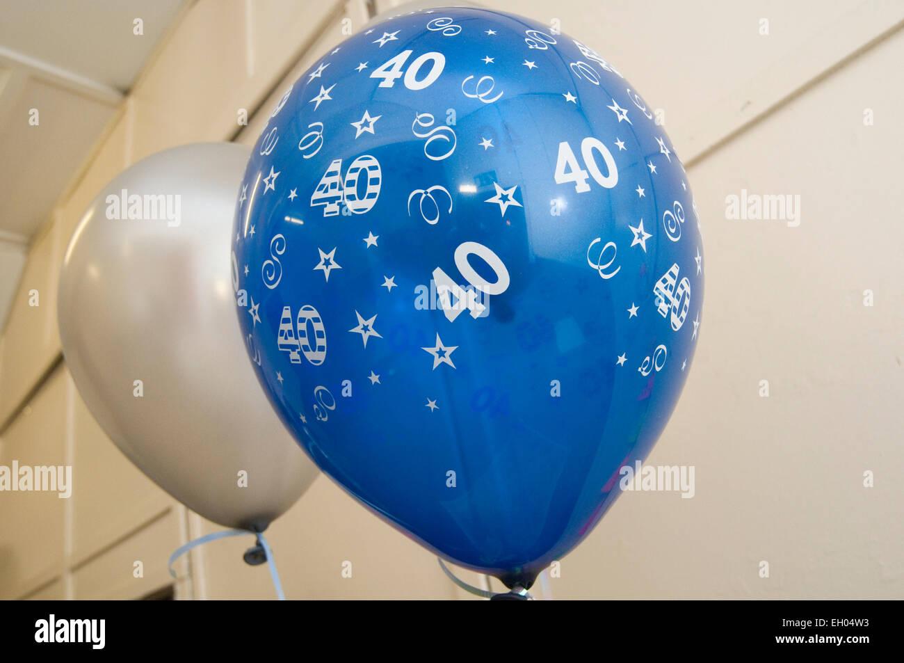 40e 40e quarante tournant l'âge moyen de partie Obtenir vieille gueule gueule de parties Photo Stock