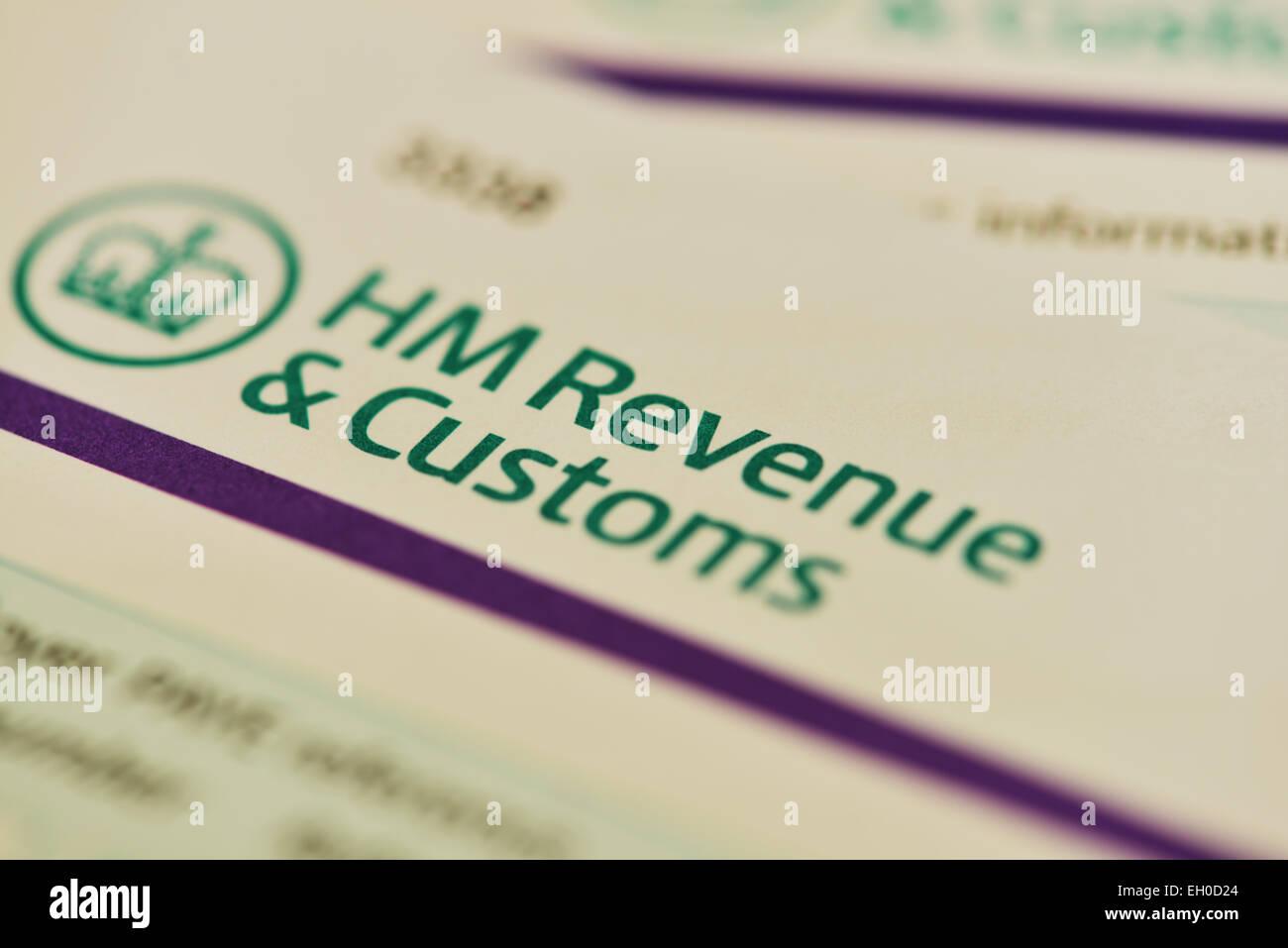 Lettre de HMRC. Des douanes et du revenu du Canada Photo Stock