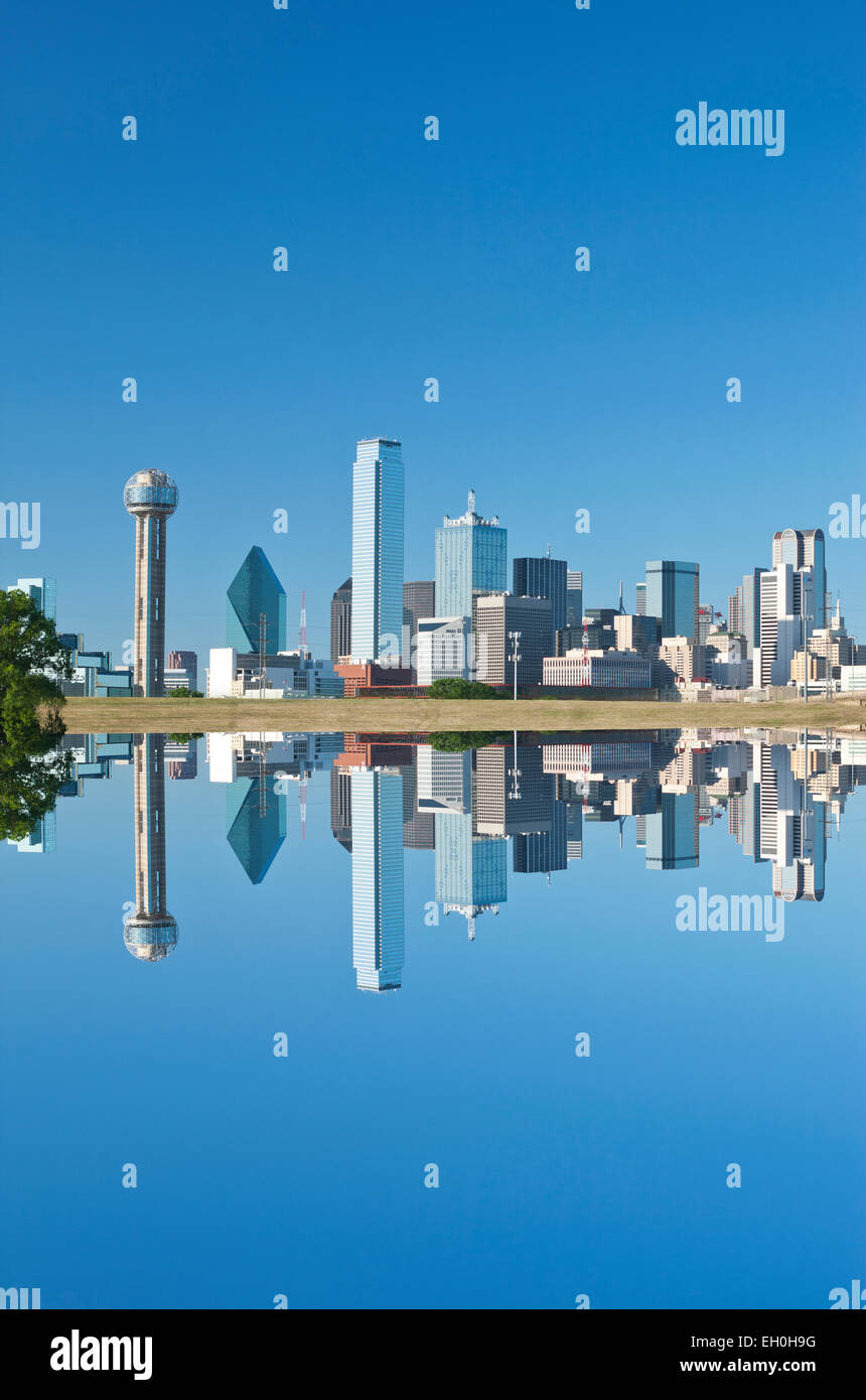 Le CENTRE-VILLE TRINITY RIVER GREENBELT PARK DALLAS TEXAS USA Photo Stock