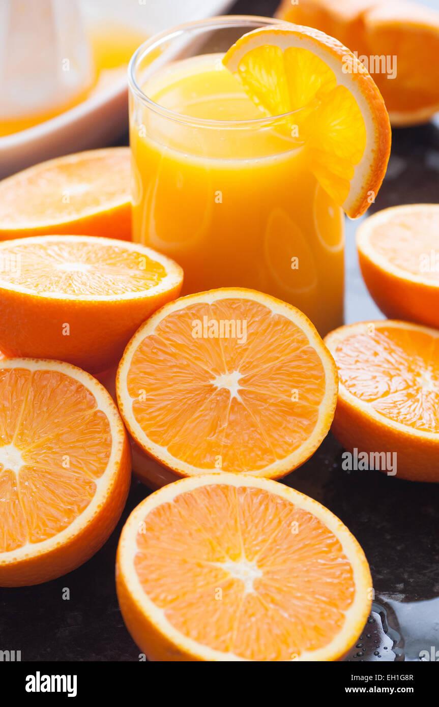 Maison Fraichement Presse Le Jus D Orange Banque D Images Photo