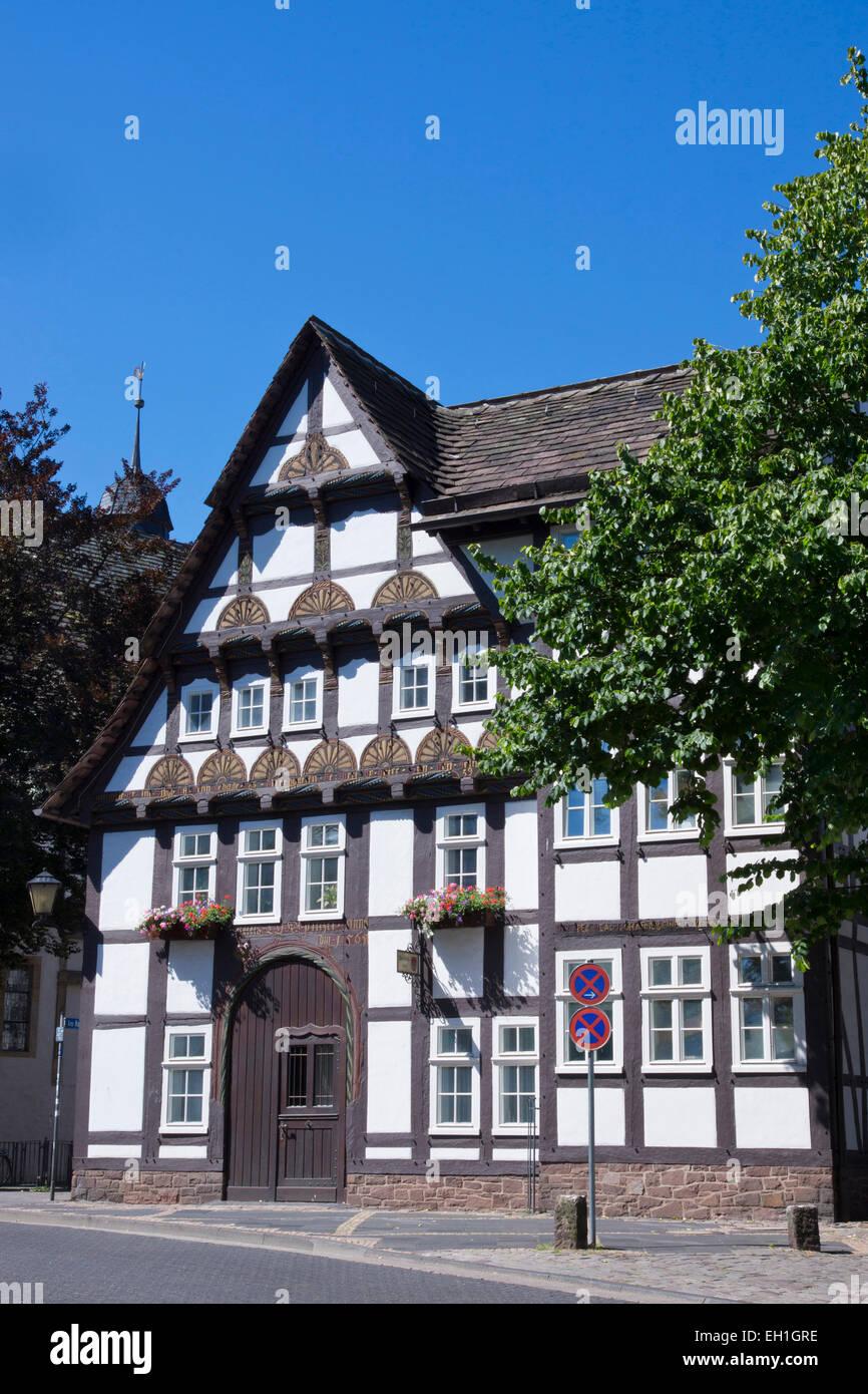 Register Office de 1565, hoexter, Rhénanie du Nord-Westphalie, Allemagne, Europe Banque D'Images