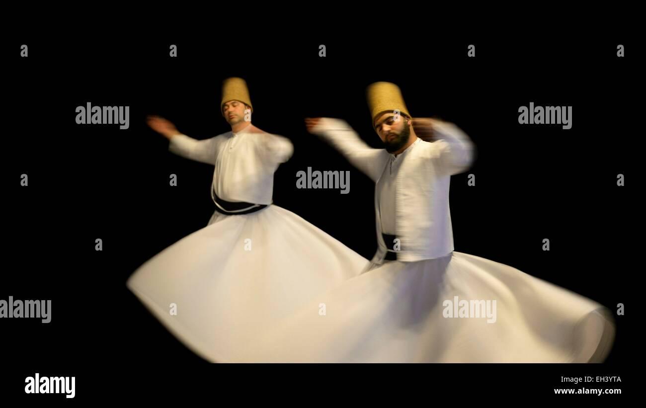 La Turquie, Istanbul, Sema, derviches tourneurs soufis Banque D'Images