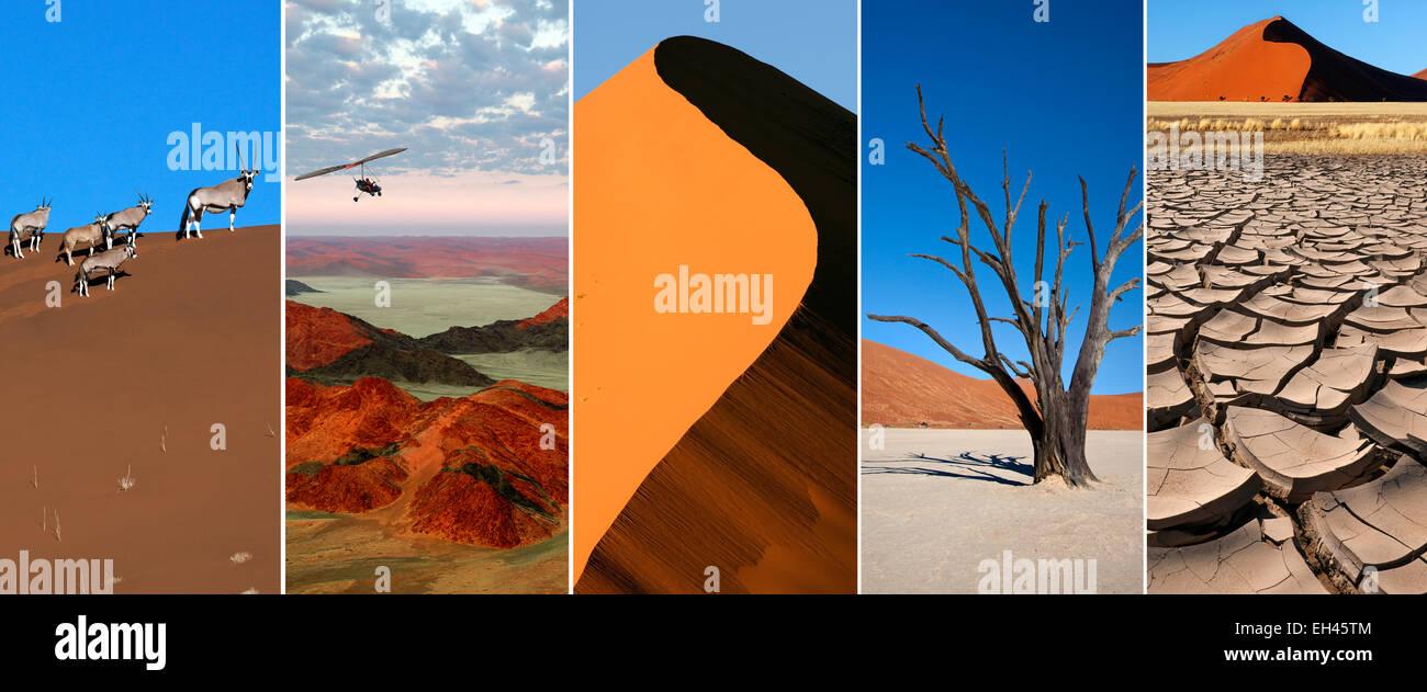 Le désert du Namib en Namibie, l'Afrique australe. Photo Stock