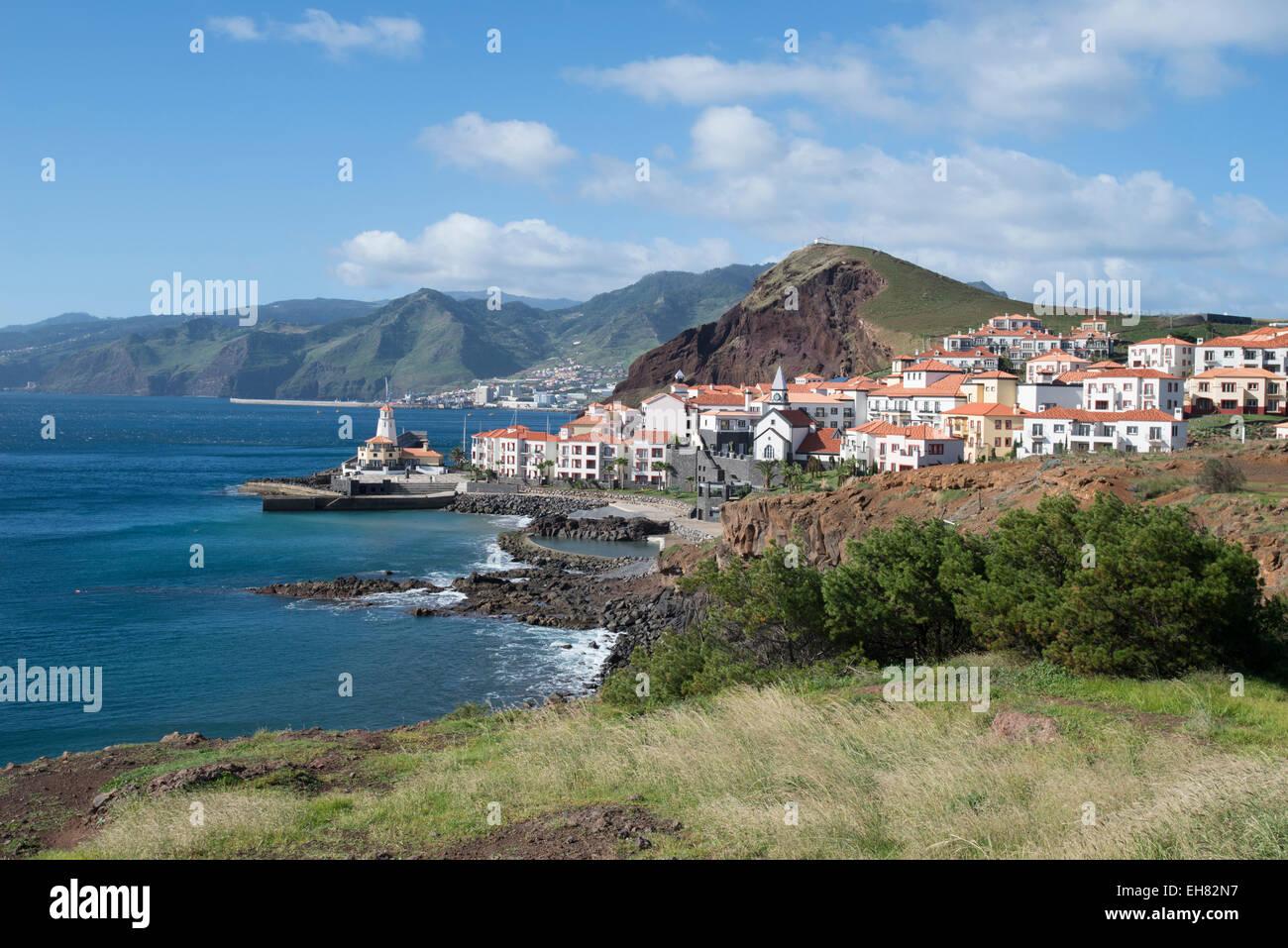 Près de Prainha, Madeira, Portugal, Europe, Atlantique Photo Stock