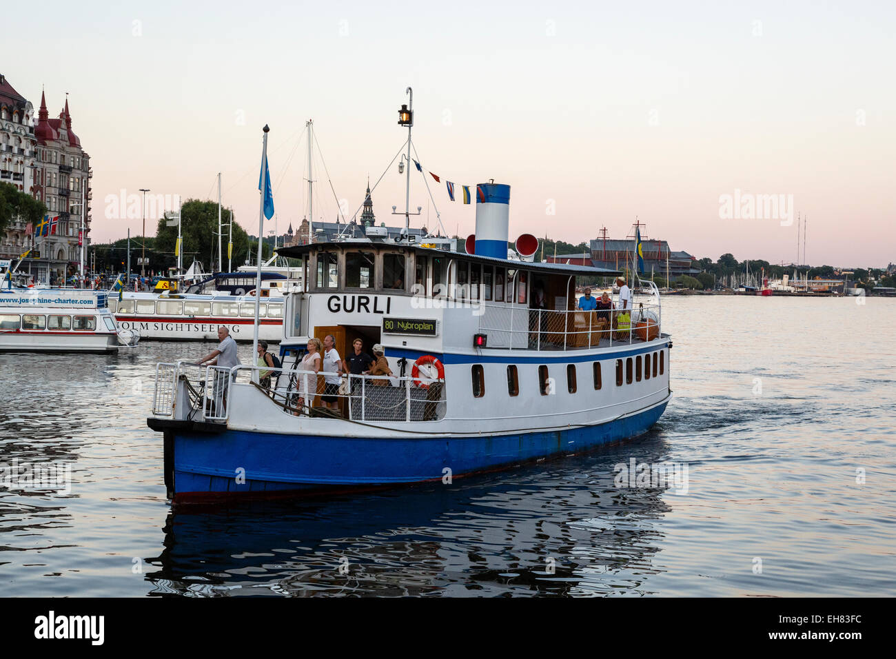 Transports en ferry, Stockholm, Suède, Scandinavie, Europe Photo Stock