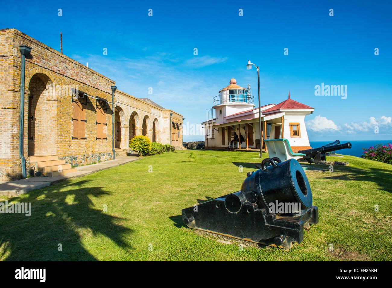 Fort King George, Scarborough, Tobago, Trinité-et-Tobago, Antilles, Caraïbes, Amérique Centrale Banque D'Images