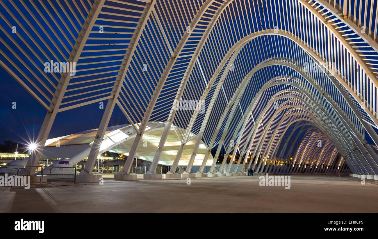 Entrée principale du complexe sportif olympique d'Athènes Photo Stock