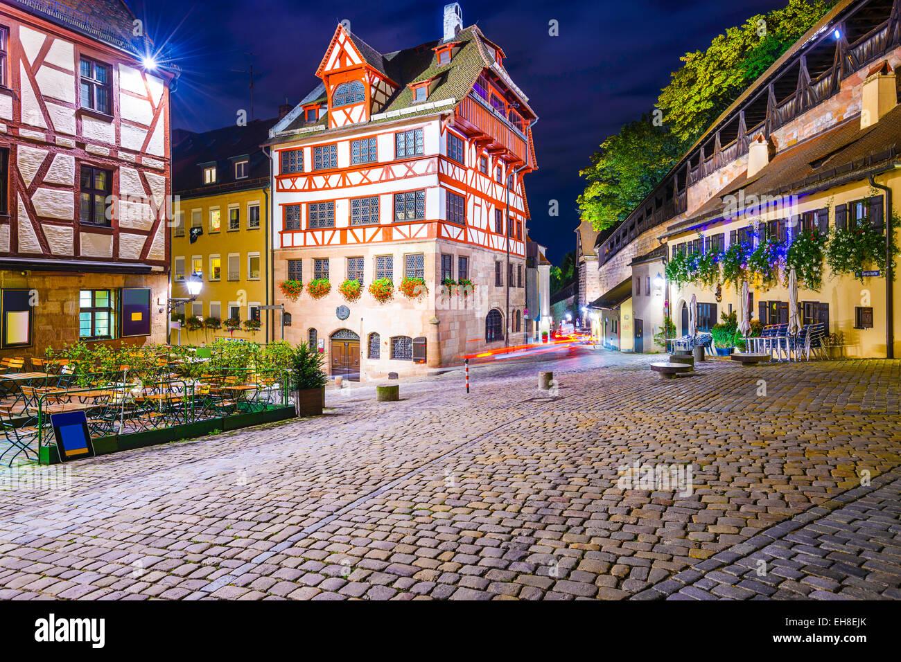 Nuremberg, Allemagne à la maison Albrecht durer. Photo Stock