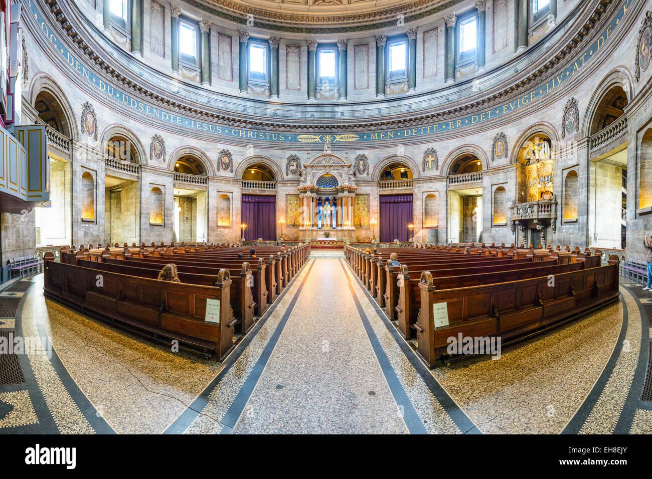 Frederik's intérieur de l'Église. Populairement connu comme l'église de marbre, il a Photo Stock
