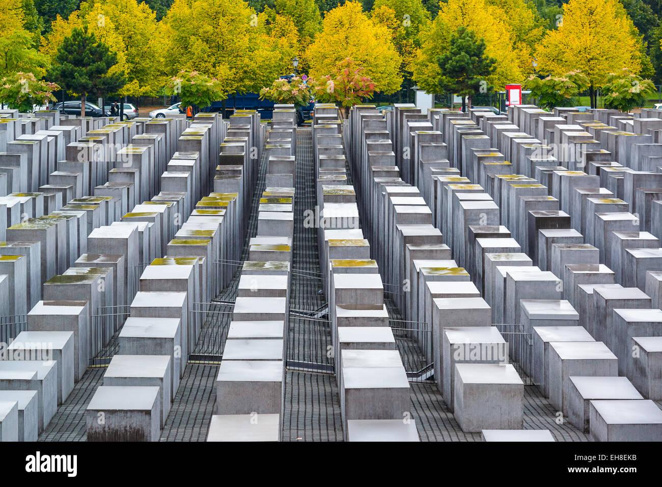 Berlin, Allemagne à l'holocauste des monuments. Photo Stock