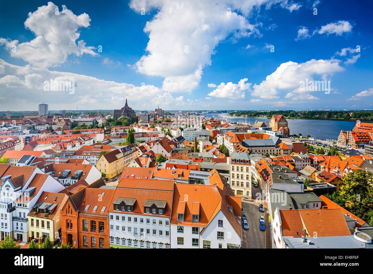 Rostock, Allemagne vieille ville. Photo Stock