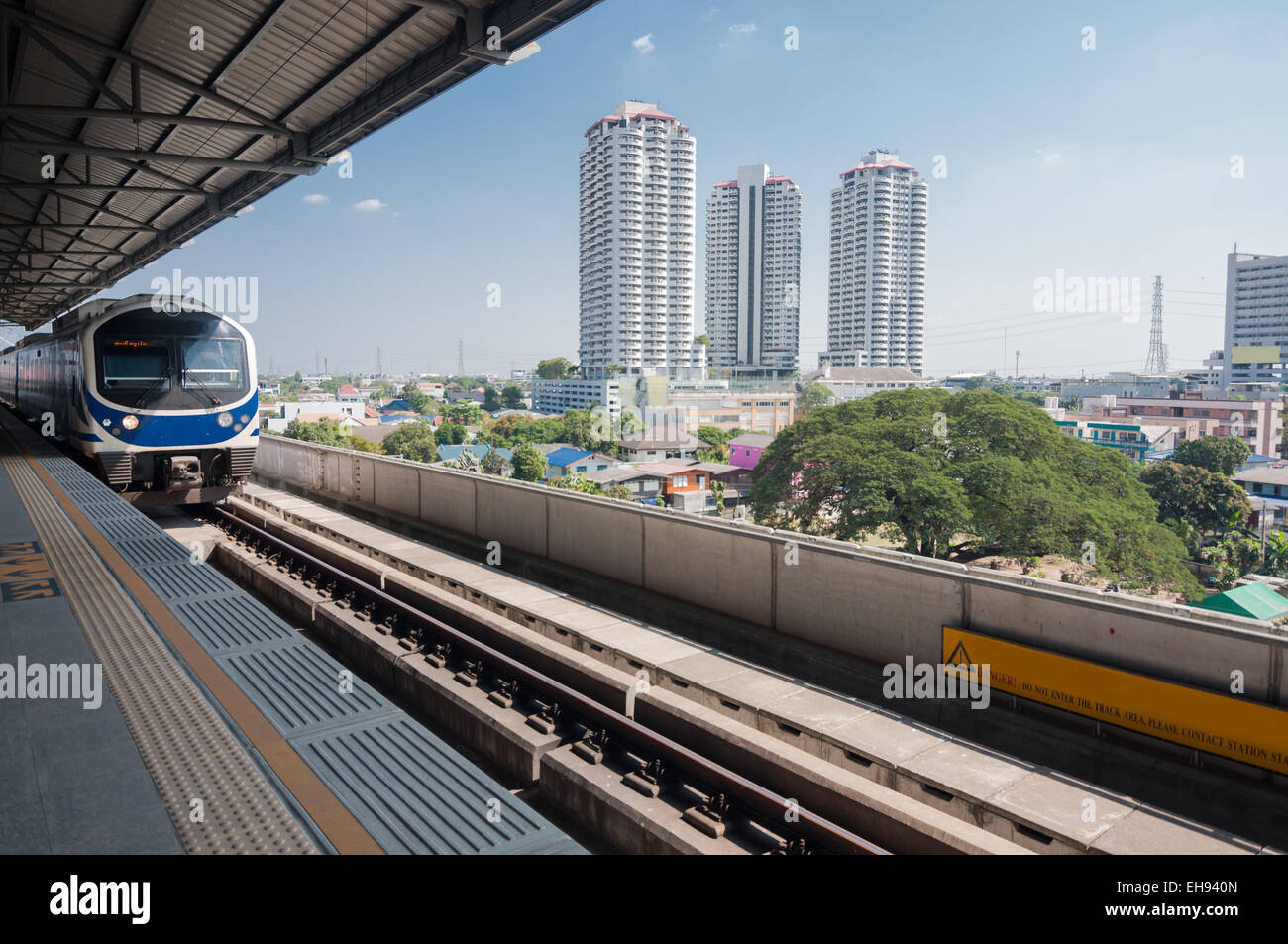 Sky train station à Bangkok Photo Stock