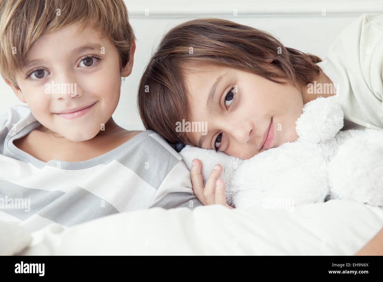 Frères, portrait Photo Stock