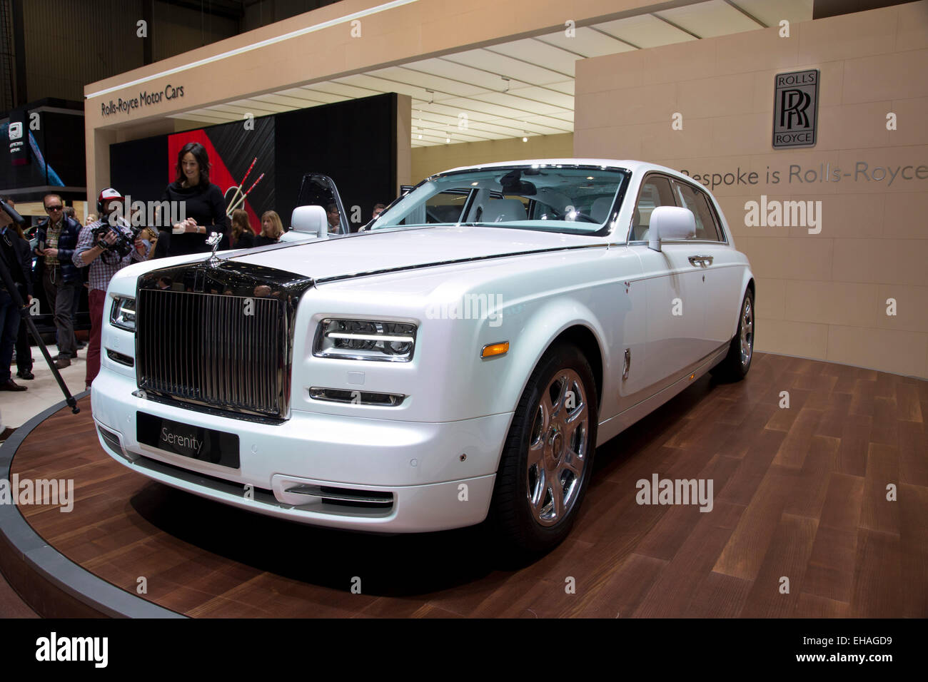 Rolls Royce Phantom sérénité au salon de Genève 2015 Photo Stock