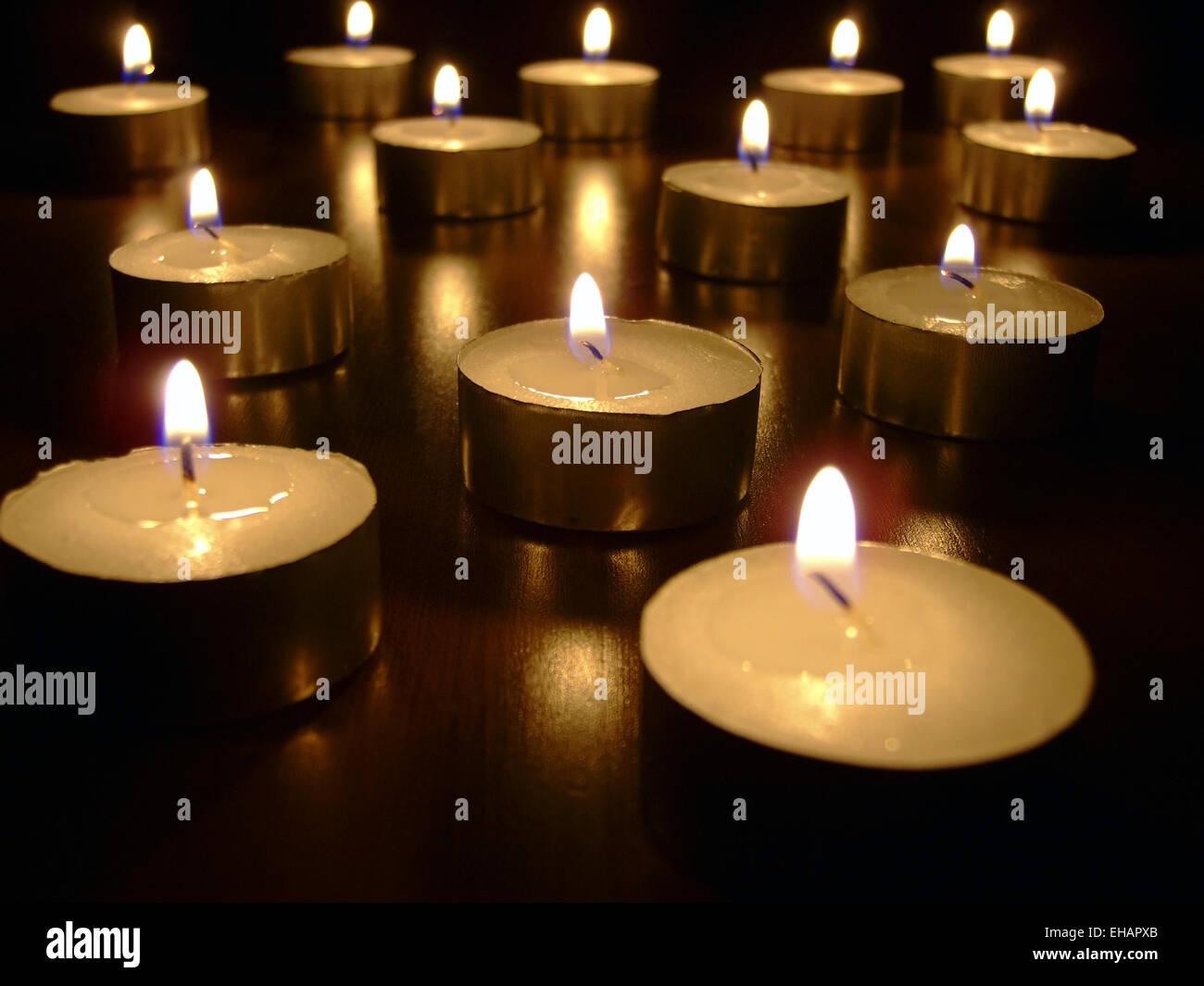 Dreizehn Lichter / treize bougies Photo Stock