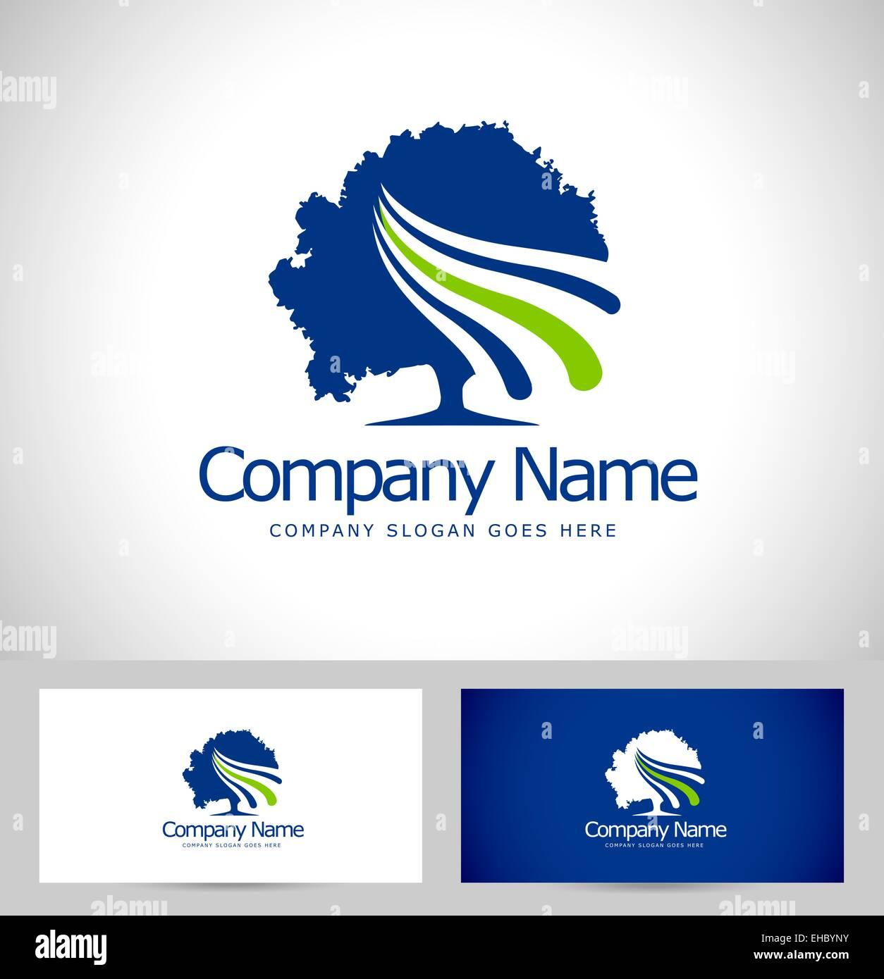 Conception De Logo Darbres Arbre Cration Carte Visite Avec Vector