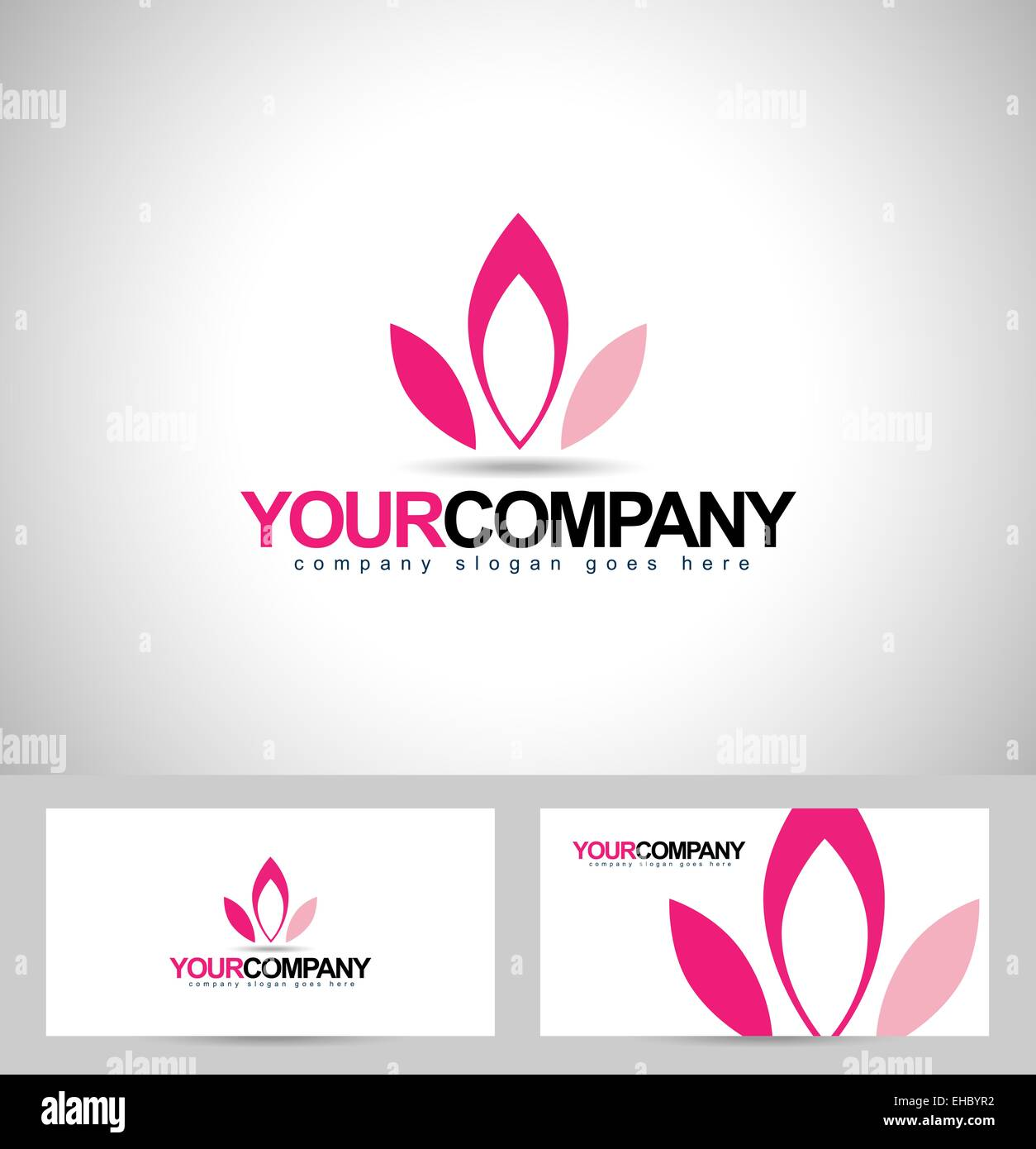 Conception De Logo Lotus Fleurs Concept Petales Creation Carte Visite Avec Design