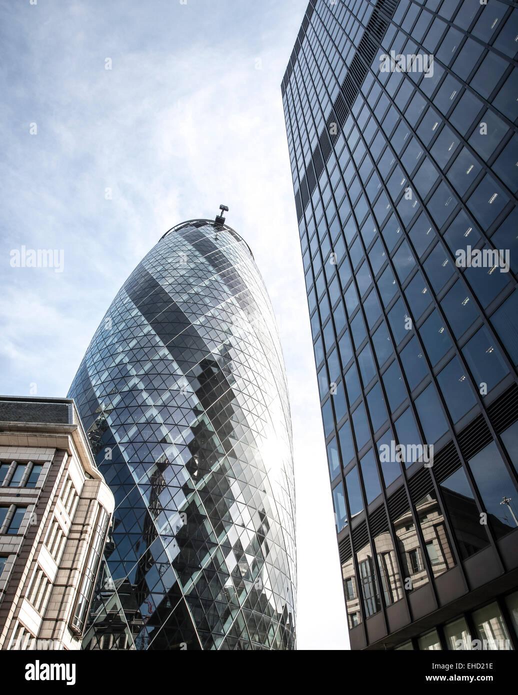 Le Gherkin, Londres Photo Stock