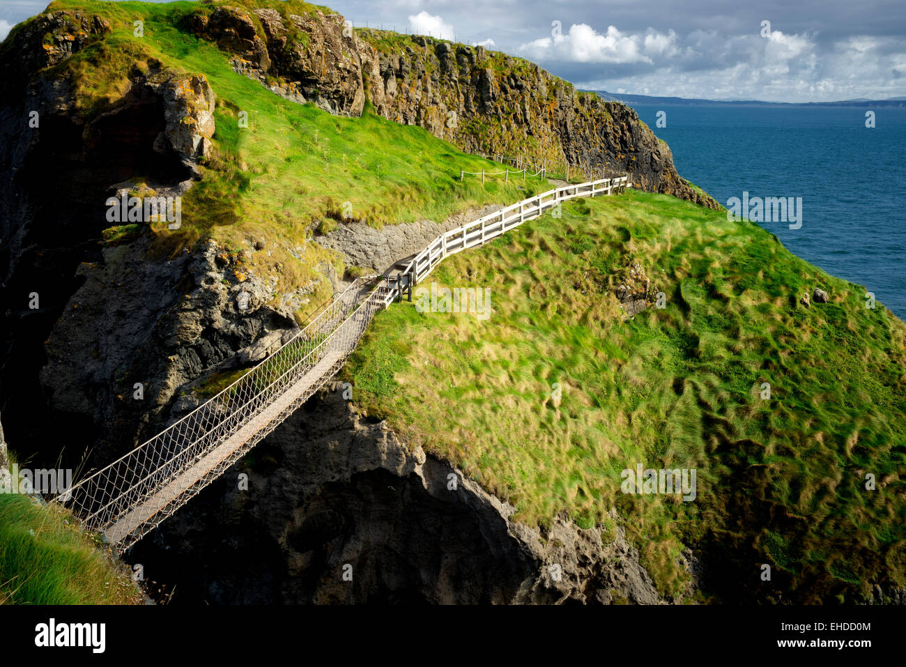 Carrick-a-Rede. L'Irlande du Nord Photo Stock