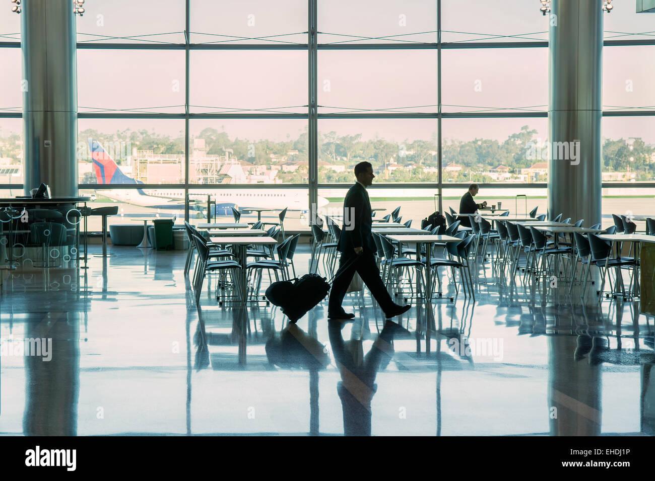 Salon de l'aéroport, San Diego, Californie Photo Stock