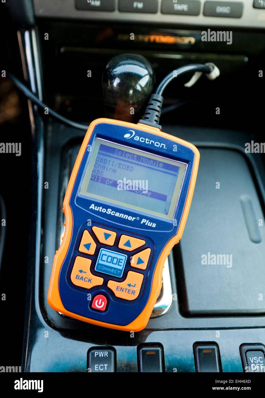 L'outil de diagnostic automobile OBD II - USA Photo Stock