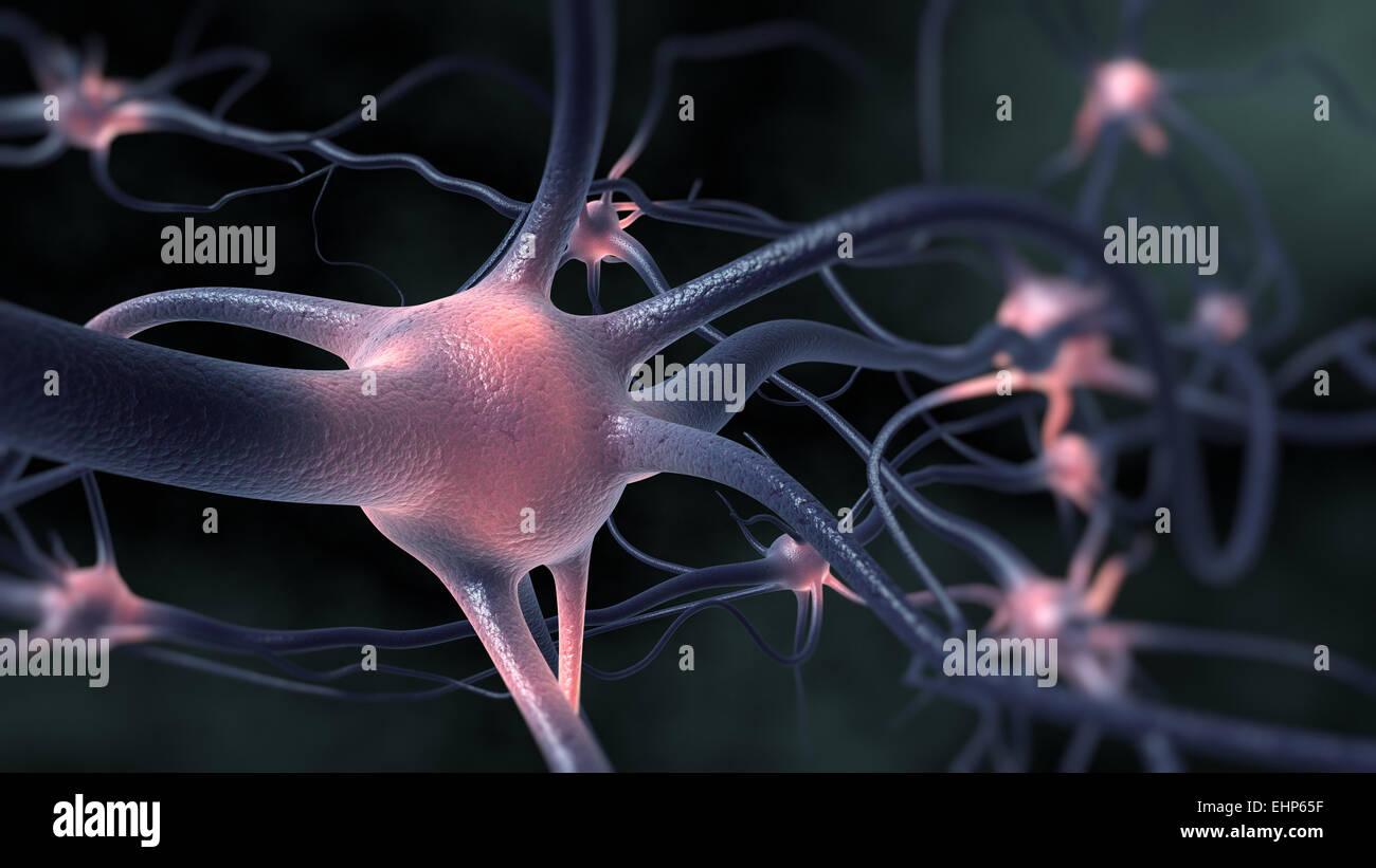 L'excitation du système nerveux. Photo Stock