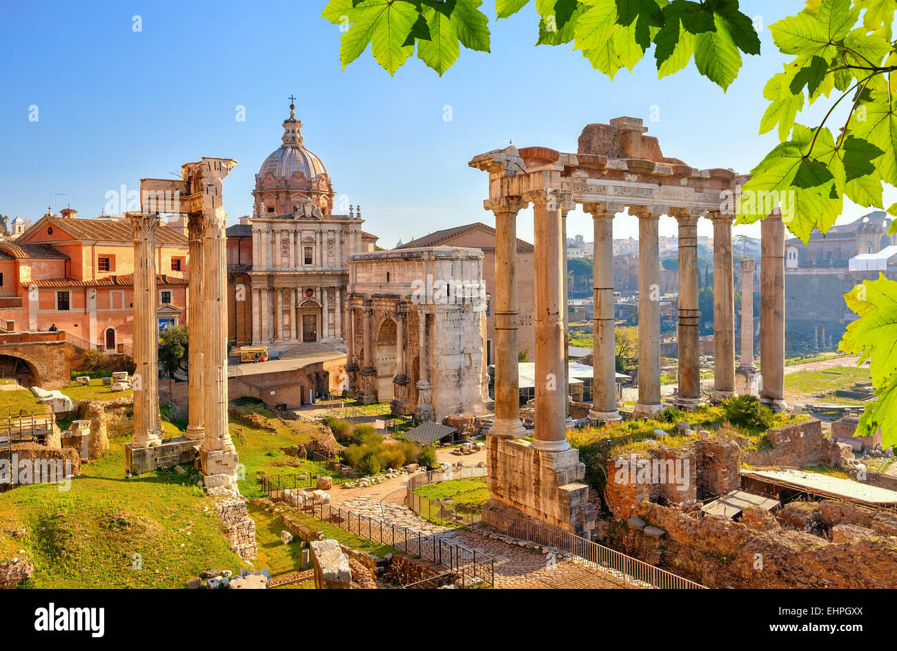 Vestiges romains à Rome, Forum Photo Stock