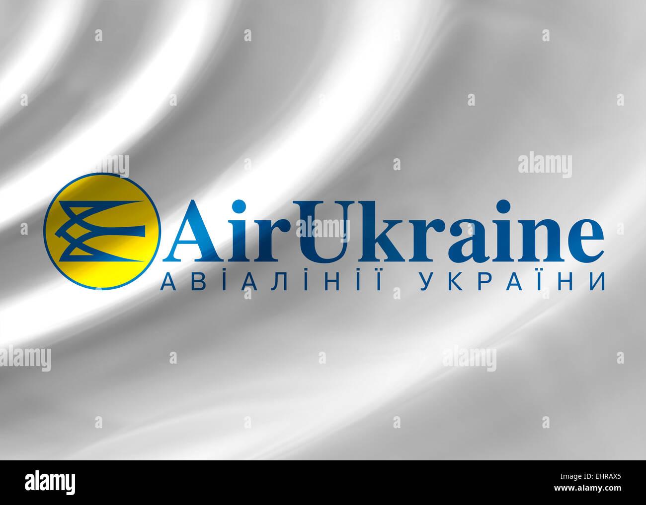 Air Ukraine drapeau emblème logo icône symbole Photo Stock