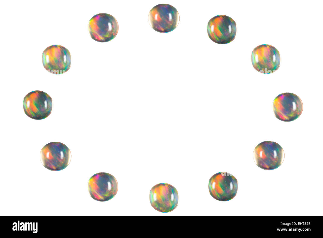 Opale de Feu ellipse Photo Stock