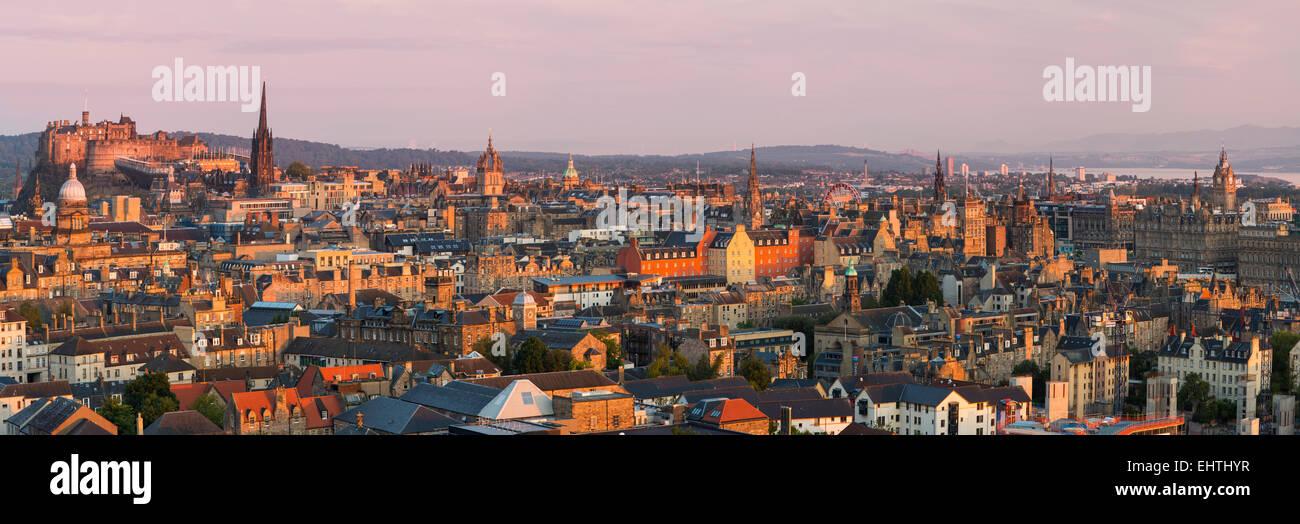 Au cours de l'aube, en Écosse, Édimbourg Photo Stock