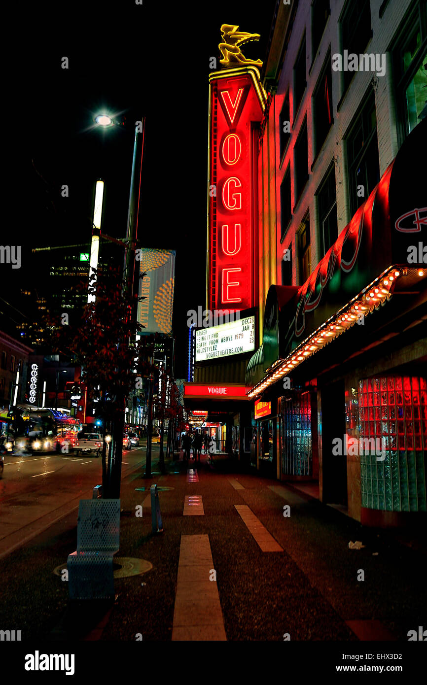 Canada, Vancouver, Vogue Theatre Photo Stock